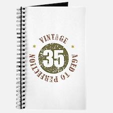 35th Vintage birthday Journal