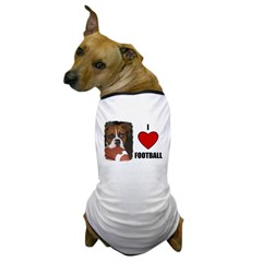 I LOVE FOOTBALL Dog T-Shirt