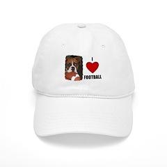I LOVE FOOTBALL Baseball Cap