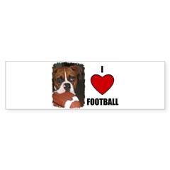 I LOVE FOOTBALL Bumper Bumper Sticker