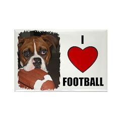 I LOVE FOOTBALL Rectangle Magnet (100 pack)
