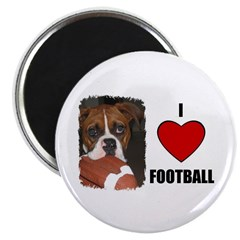 """I LOVE FOOTBALL 2.25"""" Magnet (100 pack)"""