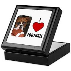 I LOVE FOOTBALL Keepsake Box