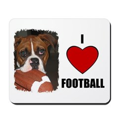 I LOVE FOOTBALL Mousepad