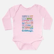 Cribbage Long Sleeve Infant Bodysuit
