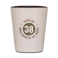 38th Vintage birthday Shot Glass