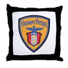 Highway Patrol Throw Pillow
