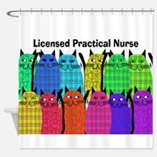 LPN cats.PNG Shower Curtain