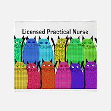 LPN cats.PNG Throw Blanket