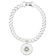 40th Vintage birthday Charm Bracelet, One Charm