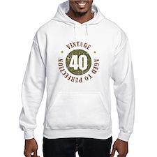 40th Vintage birthday Hoodie