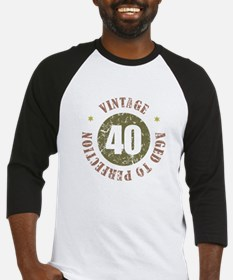 40th Vintage birthday Baseball Jersey