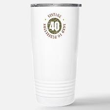 40th Vintage birthday Stainless Steel Travel Mug