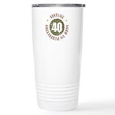40th Vintage birthday Travel Coffee Mug