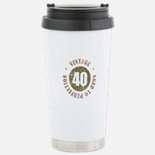 40th Vintage birthday Travel Mug