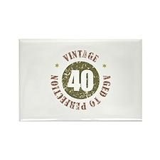 40th Vintage birthday Rectangle Magnet