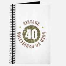 40th Vintage birthday Journal