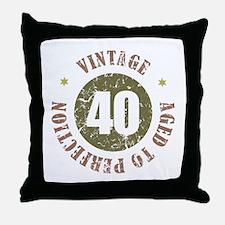40th Vintage birthday Throw Pillow