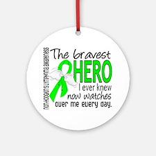 Bravest Hero I Knew NH Lymphoma Ornament (Round)