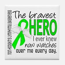 Bravest Hero I Knew NH Lymphoma Tile Coaster