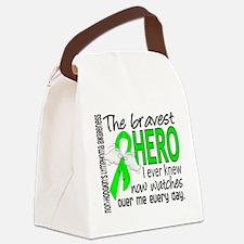 Bravest Hero I Knew NH Lymphoma Canvas Lunch Bag