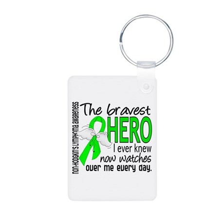 Bravest Hero I Knew NH Lymphoma Aluminum Photo Key
