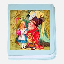 Alice and the Duchess Play Croquet baby blanket
