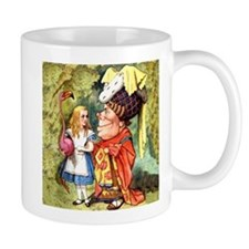 Alice and the Duchess Play Croquet Small Mugs