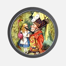 Alice and the Duchess Play Croquet Wall Clock