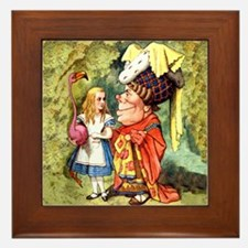 Alice and the Duchess Play Croquet Framed Tile