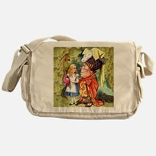 Alice and the Duchess Play Croquet Messenger Bag