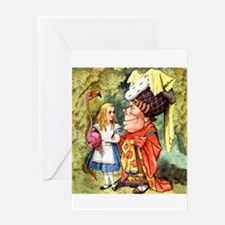 Alice and the Duchess Play Croquet Greeting Card