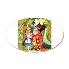 Alice and the Duchess Play Croquet Wall Decal