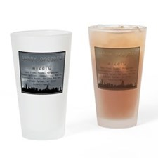 Harry Dresden Business Card Drinking Glass