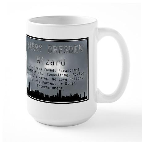 Harry Dresden Business Card Large Mug