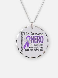 Bravest Hero I Knew H Lymphoma Necklace