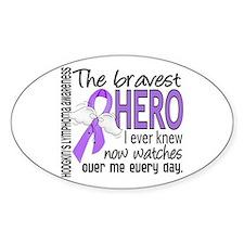 Bravest Hero I Knew H Lymphoma Decal