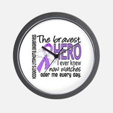 Bravest Hero I Knew H Lymphoma Wall Clock