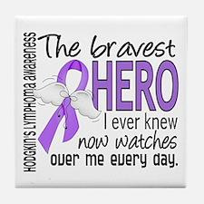 Bravest Hero I Knew H Lymphoma Tile Coaster