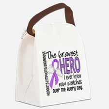 Bravest Hero I Knew H Lymphoma Canvas Lunch Bag