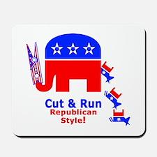 CUT N RUN REPUBLICAN STYLE - Mousepad