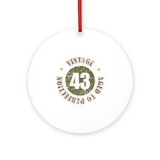 43rd Vintage birthday Ornament (Round)