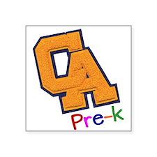 "CA Pre-K Teacher Square Sticker 3"" x 3"""