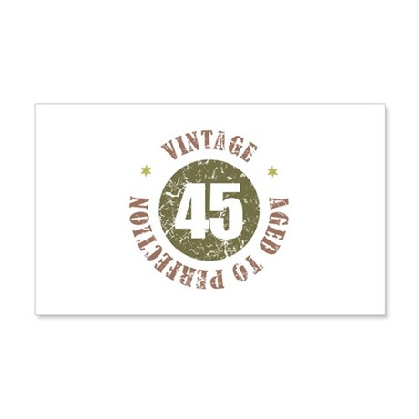 45th Vintage birthday 20x12 Wall Decal