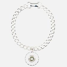 45th Vintage birthday Charm Bracelet, One Charm