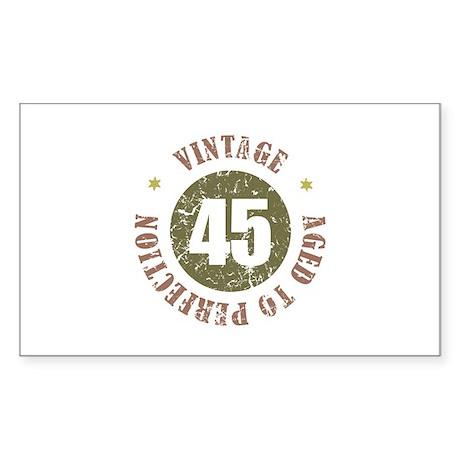 45th Vintage birthday Sticker (Rectangle)