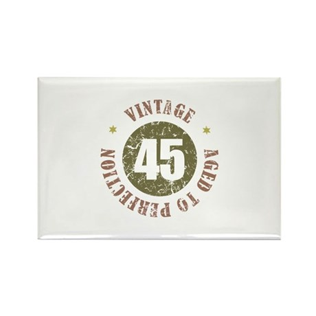 45th Vintage birthday Rectangle Magnet