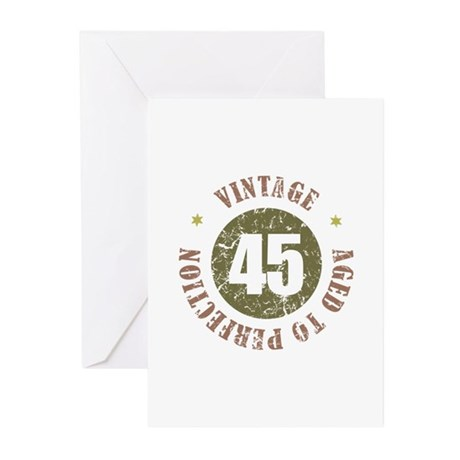 45th Vintage birthday Greeting Cards (Pk of 20)