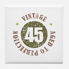 45th Vintage birthday Tile Coaster