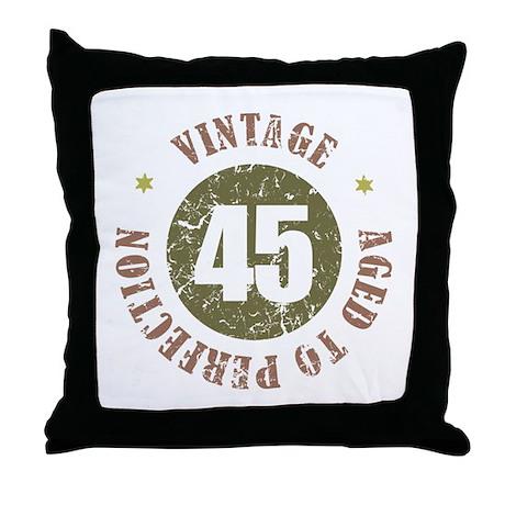 45th Vintage birthday Throw Pillow